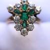 1.35ctw Antique Emerald and Diamond Ring 24