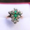 1.35ctw Antique Emerald and Diamond Ring 5