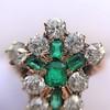 1.35ctw Antique Emerald and Diamond Ring 23