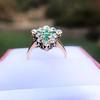 1.35ctw Antique Emerald and Diamond Ring 12