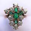 1.35ctw Antique Emerald and Diamond Ring 20