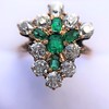 1.35ctw Antique Emerald and Diamond Ring 19