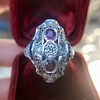 1.35ctw Diamond and Ruby Filigree Ring 10