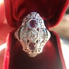 1.35ctw Diamond and Ruby Filigree Ring 5