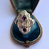1.35ctw Diamond and Ruby Filigree Ring 28