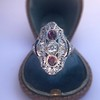 1.35ctw Diamond and Ruby Filigree Ring 23