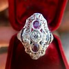 1.35ctw Diamond and Ruby Filigree Ring 9
