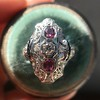 1.35ctw Diamond and Ruby Filigree Ring 15