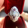 1.35ctw Diamond and Ruby Filigree Ring 13