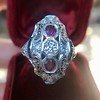1.35ctw Diamond and Ruby Filigree Ring 11