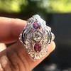 1.35ctw Diamond and Ruby Filigree Ring 24