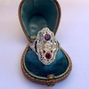 1.35ctw Diamond and Ruby Filigree Ring 29