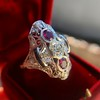 1.35ctw Diamond and Ruby Filigree Ring 8