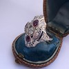 1.35ctw Diamond and Ruby Filigree Ring 19