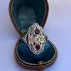 1.35ctw Diamond and Ruby Filigree Ring 26