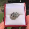 1.36ctw Art Deco Geometric Engagement Ring 5
