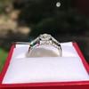 1.36ctw Art Deco Geometric Engagement Ring 6