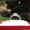 1.36ctw Art Deco Geometric Engagement Ring 8