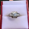 1.36ctw Art Deco Geometric Engagement Ring 0