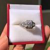 1.36ctw Art Deco Geometric Engagement Ring 4