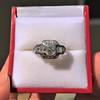 1.36ctw Art Deco Geometric Engagement Ring 3