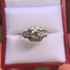 1.36ctw Art Deco Geometric Engagement Ring 11
