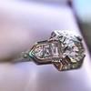 1.36ctw Art Deco Geometric Engagement Ring