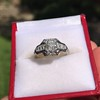 1.36ctw Art Deco Geometric Engagement Ring 9