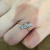 1.38ctw Antique Old European Cut Diamond 3-Stone Ring 12