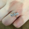 1.38ctw Antique Old European Cut Diamond 3-Stone Ring 13