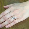 1.38ctw Antique Old European Cut Diamond 3-Stone Ring 14