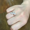1.38ctw Antique Old European Cut Diamond 3-Stone Ring 8