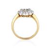 1.38ctw Fancy Golden Brown Old European cut Diamond Cluster Ring 2