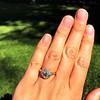 1.38ctw Fancy Golden Brown Old European cut Diamond Cluster Ring 19