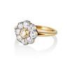 1.38ctw Fancy Golden Brown Old European cut Diamond Cluster Ring 1