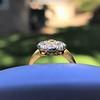 1.38ctw Fancy Golden Brown Old European cut Diamond Cluster Ring 26