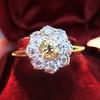 1.38ctw Fancy Golden Brown Old European cut Diamond Cluster Ring 12