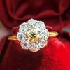 1.38ctw Fancy Golden Brown Old European cut Diamond Cluster Ring 13