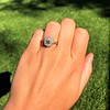 1.38ctw Fancy Golden Brown Old European cut Diamond Cluster Ring 17
