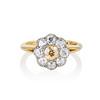1.38ctw Fancy Golden Brown Old European cut Diamond Cluster Ring 0