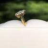 1.38ctw Fancy Golden Brown Old European cut Diamond Cluster Ring 24