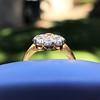 1.38ctw Fancy Golden Brown Old European cut Diamond Cluster Ring 25