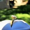 1.38ctw Fancy Golden Brown Old European cut Diamond Cluster Ring 27