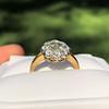 1.38ctw Fancy Golden Brown Old European cut Diamond Cluster Ring 23