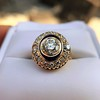 1.40ct Transitional Cut Diamond Halo with Enamel Ring, GIA I VS2 20