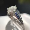 1.40ct Vintage Diamond Dome Ring 23