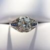 1.40ct Vintage Diamond Dome Ring 17