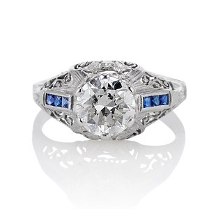 1.40ct Vintage Diamond Dome Ring