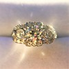 1.40ctw Art Deco Old European Cut Diamond Trilogy Ring