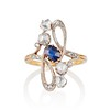 1.40ctw Art Nouveau Sapphire and Diamond Ring 0
